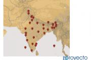 Geolocaliza las capitales de los estados y territorios de India