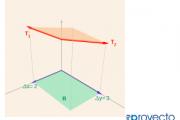Área de un paralelogramo y de su proyección