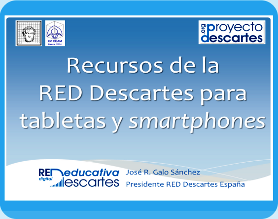 Recursos de la RED Descartes para tabletas y smartphones