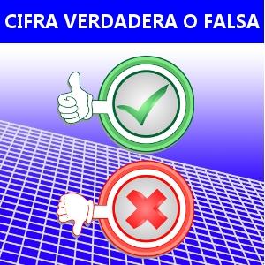 CIFRA VERDADERA O FALSA