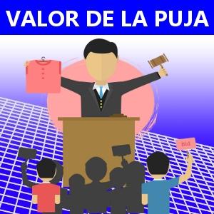 VALOR DE LA PUJA